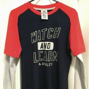 ADIDAS Unisex Long Sleeve T-Shirt 'Watch And Learn
